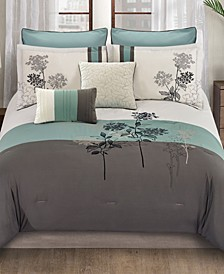 Emilie 8 Pc Queen Comforter Set