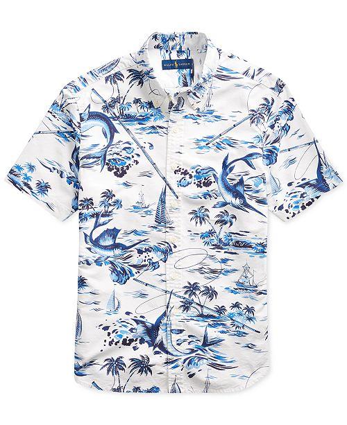 Polo Ralph Lauren Men s Classic-Fit Tropical Shirt - Casual Button ... 2a30699d1d17