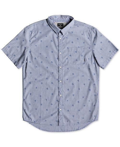 Quiksilver Men's Woven Palm Graphic Shirt