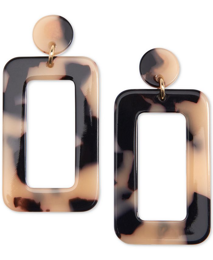 Zenzii - Gold-Tone Resin Cutout Drop Earrings