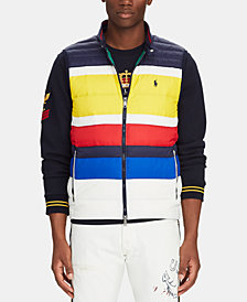 Polo Ralph Lauren Men's Striped Packable Down Vest, Created for Macy's