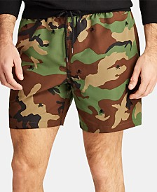 "Polo Ralph Lauren Men's 5 ¾"" Traveler Camo Swim Trunks"
