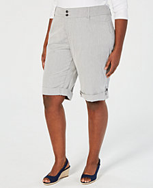 Charter Club Plus Size Chino Shorts, Created for Macy's