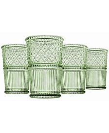 Claro Modern Vintage Highball Glasses, Set of Four