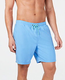"Club Room Men's Quick-Dry Performance Solid 7"" Swim Trunks, Created for Macy's"