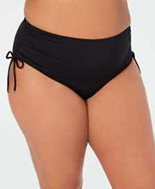 Michael Michael Kors Plus Size Ruched Hipster Bikini Bottom