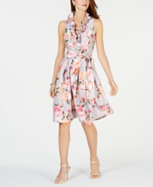 Jessica Howard Petite Ruffled Fit & Flare Dress