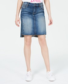 Kut from the Kloth Connie High-Low Denim Skirt