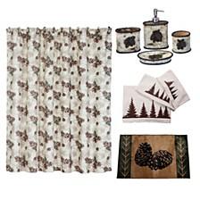 21-Pc. Forest Pine Bathroom Set