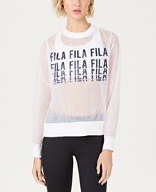 Fila Logo Sheer Top