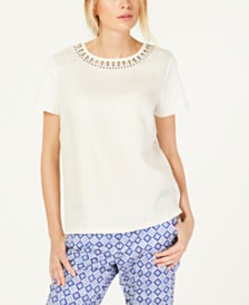 Weekend Max Mara Beaded-Neck Top