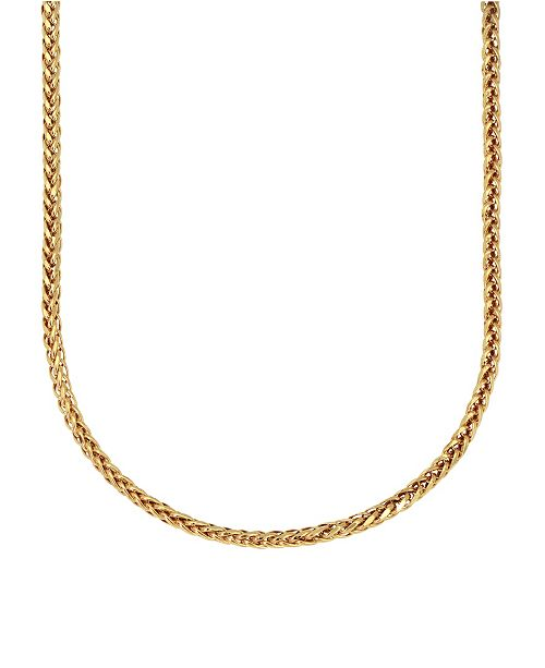 """Macy's Chevron Link 18"""" Chain Necklace (1.6mm) in 18k Gold"""