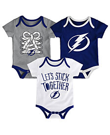 Outerstuff Tampa Bay Lightning Five On Three Creeper 3 Pc Set, Infants (0-9 Months)
