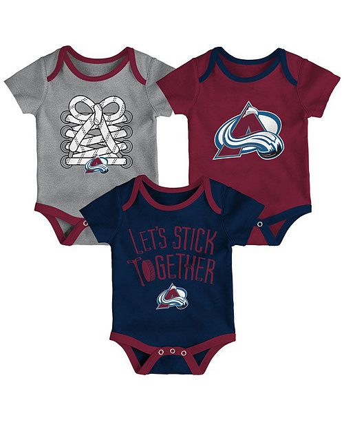 free shipping 34ae5 c6366 Colorado Avalanche Five On Three Creeper 3 Pc Set, Infants (0-9 Months)