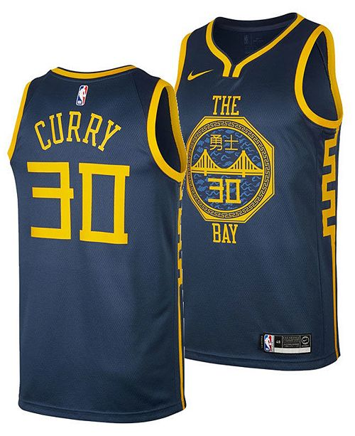 new concept f50f1 99338 Nike Men's Stephen Curry Golden State Warriors City ...