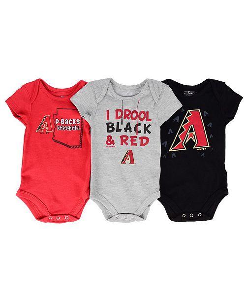 Outerstuff Arizona Diamondbacks Big Time Fan 3 Piece Set, Infants (0-9 Months)