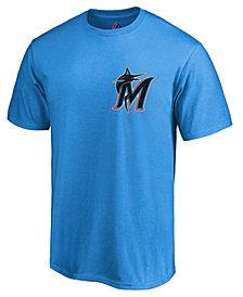 Majestic Men's Miami Marlins Official Wordmark T-Shirt
