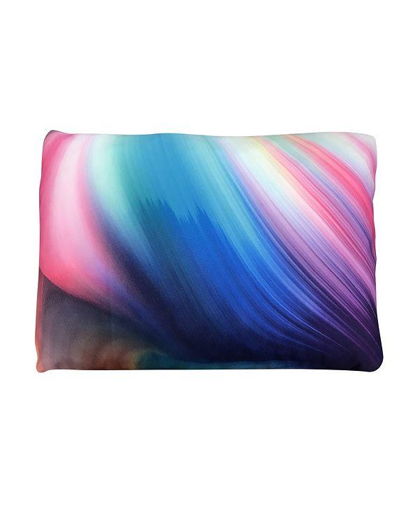 Groove Standard Size Tie Dye Cluster Memory Foam Bed Pillow