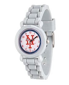 Gametime MLB New York Mets Kids' Gray Plastic Time Teacher Watch