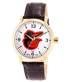 Gametime MLB Baltimore Orioles Men's Shiny Gold Vintage Alloy Watch