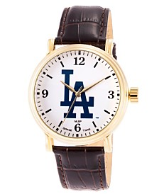 Gametime MLB Los Angeles Dodgers Men's Shiny Gold Vintage Alloy Watch