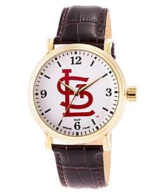 Gametime MLB St. Louis Cardinals Men's Shiny Gold Vintage Alloy Watch