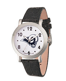 Gametime NFL Los Angeles Rams Women's Silver Vintage Alloy Watch