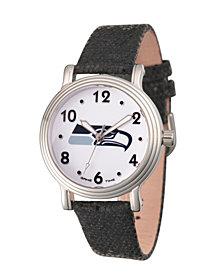 Gametime NFL Seattle Seahawks Women's Silver Vintage Alloy Watch