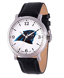 Gametime NFL Carolina Panthers Men's Shiny Silver Vintage Alloy Watch