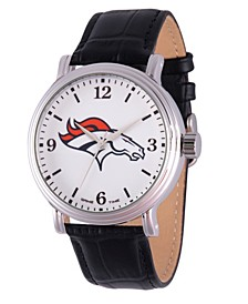 Gametime NFL Denver Broncos Men's Shiny Silver Vintage Alloy Watch