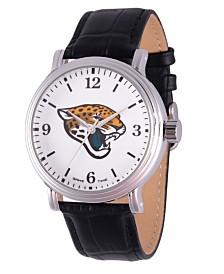 Gametime NFL Jacksonville Jaguars Men's Shiny Silver Vintage Alloy Watch