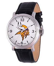 Gametime NFL Minnesota Vikings Men's Shiny Silver Vintage Alloy Watch