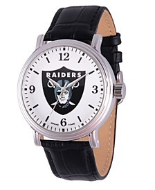 Gametime NFL Oakland Raiders Men's Shiny Silver Vintage Alloy Watch