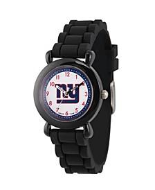 Gametime NFL New York Giants Kids' Black Plastic Time Teacher Watch