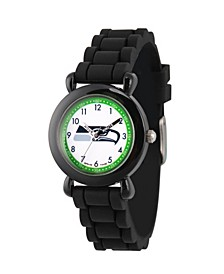 Gametime NFL Seattle Seahawks Kids' Black Plastic Time Teacher Watch