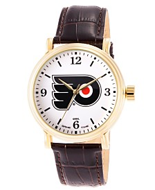 Gametime NHL Philadelphia Flyers Men's Shiny Gold Vintage Alloy Watch