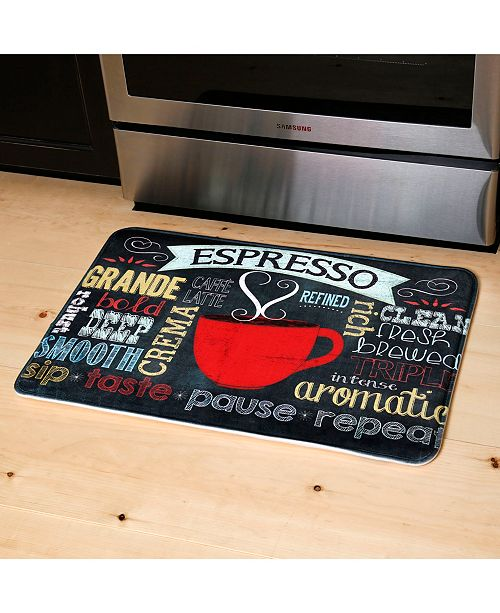 Relaxed Chef Cushioned Anti-Fatigue Memory Foam Kitchen Mat Espresso Cup