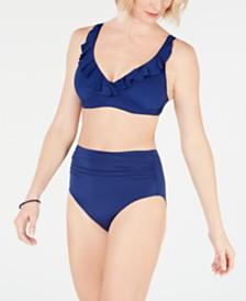 Lauren Ralph Lauren Ruffled Bikini Top & Tummy-Control Bottoms