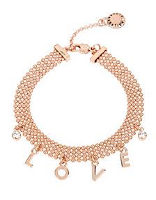 BCBGeneration 'LOVE' Affirmation Charm Mesh Bracelet