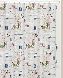 Botanical Diary Shower Curtain