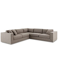 Dulovo 3-Pc. Fabric Sectional Sofa, Created for Macy's