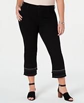 994424d227 Style   Co Cotton Plus Size Stud-Embellished Cropped Jeans