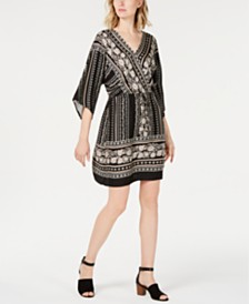 Style & Co Printed V-neck Dress, Created for Macy's