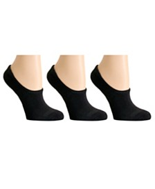 DKNY Sport Women's 3 Pack Cushioned Ultra No-Show Socks