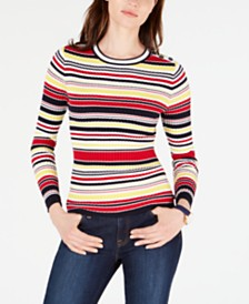 Tommy Hilfiger Ribbed Cotton Striped Sweater