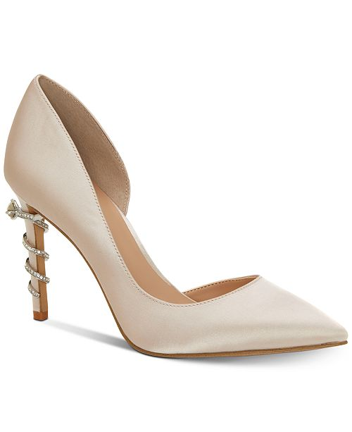 I N C Women S Keeley Ring On Heel Bridal Pumps Creat