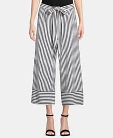 ECI Striped Tie-Waist Capris