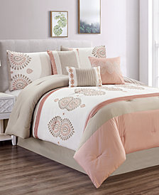 CLOSEOUT! Tanirika 7-Pc. Queen Comforter Set