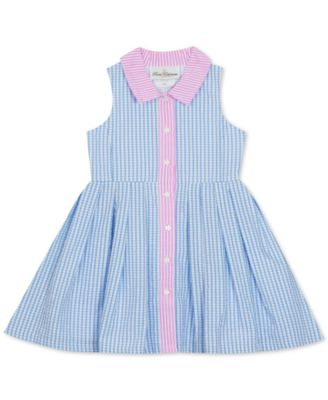 Baby Girls Gingham Seersucker Shirtdress