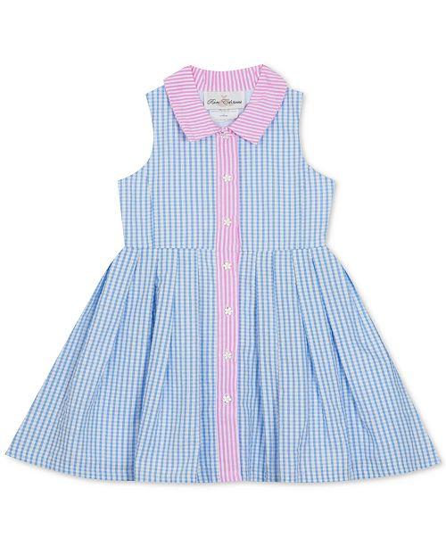 Rare Editions Baby Girls Gingham Seersucker Shirtdress